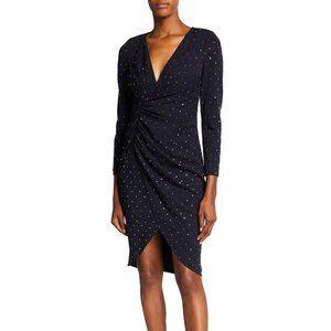 AIDAN MATTOX  Long sleeve v-neck dress